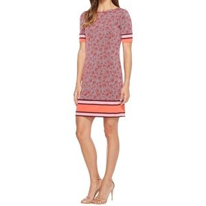 Michael Kors Augusta Border Dress in Sangria